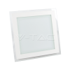 18W LED Panel Downlight Glass - Square  6000K