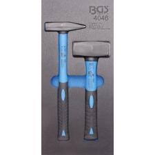 1/3 Szerszámtálca szerszámkocsihoz: 2 részes lakatos és kőtörő kalapács készlettel (BGS 4046) autójavító eszköz