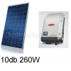 2,6 kWp rendszer Korax napelem+ Fronius inverter