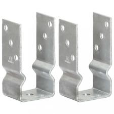 2 db ezüstszínű horganyzott acél kerítéshorgony 7 x 6 x 15 cm építőanyag