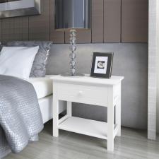 2 db fa éjjeliszekrény fehér ágy és ágykellék