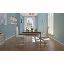 2 db fehér cikkcakkos alakú étkezőszék bútor