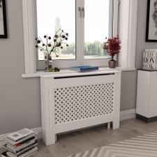 2 db fehér MDF radiátorburkolat 112 x 19 x 81,5 cm hűtés, fűtés szerelvény