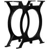 2 db öntöttvas étkezőasztal láb O-alakú vázzal
