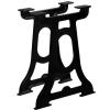 2 db öntöttvas étkezőasztal láb Y-alakú vázzal