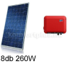 2 kWp rendszer Canadian napelem+ SMA inverter