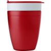 2in1 pohár, műanyag, piros