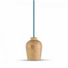 - 3720 fa burás csillár (E27) - kék színű vezetékkel