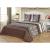 3 részes ágytakaró szett 200x220 cm méretben - barna kanyargós indás mintás