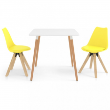 3 részes sárga étkezőszett bútor