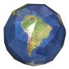 3D kartonpapír földgömb