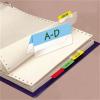 3L Jelölő ikercímke, műanyag, kétoldalas, 4x6 lap, 12x40 mm,  vegyes