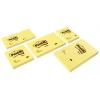 3M POSTIT Öntapadó jegyzettömb, 51x76 mm, 100 lap, 3M POSTIT, sárga