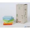 3M POSTIT Öntapadó jegyzettömb, 76x76 mm, 16x100 lap, környezetbarát, 3M POSTIT, szivárvány színek