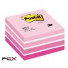 3M POSTIT Öntapadó jegyzettömb, 76x76 mm, 450 lap, 3M POSTIT, aquarell pink