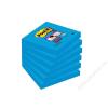 3M POSTIT Öntapadó jegyzettömb, 76x76 mm, 90 lap, 3M POSTIT Super Sticky, kék (LP6546SSEB)