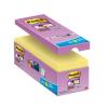 """3M POSTIT Öntapadó jegyzettömb csomag, 127x76 mm, 16x90 lap, 3M POSTIT """"Super Sticky"""", sárga"""