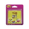 3M POSTIT Super Sticky Öntapadó jegyzettömb, easy select, 76x76 mm, 4x75 lap, vegyes