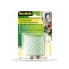 3M Scotch Ragasztó négyzetek, 16 db/csomag, kétoldalú, 3M SCOTCH
