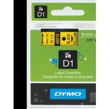 40918 Dymo D1 kazetta, 9mmx7m, fekete/sárga AJÁNDÉK NYOMTATÓ! nyomtatópatron & toner