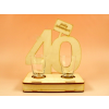 40. születésnapra pohár szett