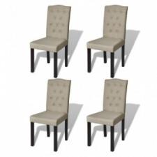 4 db bézs étkezőszék bútor