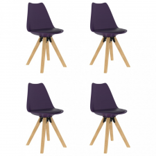 4 db lila étkezőszék bútor