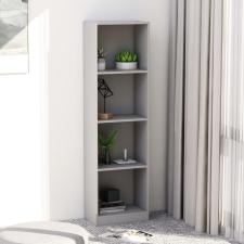 4-szintes szürke forgácslap könyvszekrény 40 x 24 x 142 cm bútor