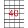 APLI 4 pályás etikett, 52,5 x 29,7 mm, 4000 etikett/csomag