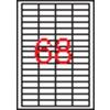 APLI 4 pályás etikett, 48,5 x 16,9 mm, 6800 etikett/csomag