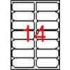 APLI 2 pályás etikett, 99,1 x 38,1 mm, kerekített sarkú, 1400 etikett/csomag