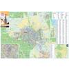 Stiefel Eurocart Kft. Sopron város térképe, tűzhető, keretes