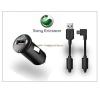Sony Ericsson Aspen/Vivaz/X2/X10 USB szivargyújtós töltő adapter + microUSB adatkábel - AN400+EC450 (csomagolás nélküli) mobiltelefon kellék