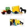 Wader : Traktor lószállító utánfutóval