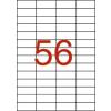 APLI 4 pályás etikett,  52,5 x 21,2 mm, 14000 etikett/ csomag