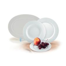 ROTBERG Basic desszertes tányér, fehér porcelán, 19 cm át mérő tányér és evőeszköz