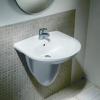 Hatria Erika 60cm-es függesztett mosdó+szifontakaró