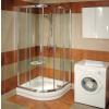 BLCP4-80 negyedköríves zuhanykabin Fényes alumínium+Transparent
