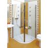 ESKK2-100 Króm+Transparent Elegance - negyedköríves zuhanykabinok