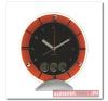 Meteora, asztali óra, analóg kijelzővel, ezüst/narancs asztali óra