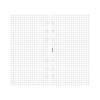FILOFAX jegyzetlapok, négyzethálós, fehér, personal méret
