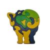 Elefánt puzzle - kék