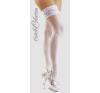 Cottelli Collection Szaténos combfix - fehér harisnya