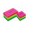 TARTAN 76x76 öntapadós jegyzettömb, neon kocka, vegyes, 400 lap