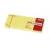 APLI Öntapadós jegyzettömb, 100 lapos, sárga, 38 x 51 mm