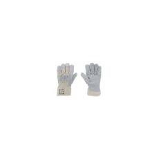 . Marhahasítékbőr-kesztyű, szürke/beige, 10-es méret