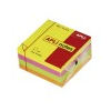 APLI Öntapadós jegyzettömb kocka, 400 lapos, neon színekben, 75 x 75 mm
