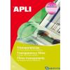 APLI Írásvetítő fólia kézzel írható A4 100lap/csom