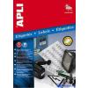 APLI 4 pályás etikett 45 7 x 21 2 mm kerekített sarkú ezüstszínű lézer nyomtatóhoz 960 etikett/csomag 20 lap/csom