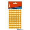 APLI Körcímke 16 mm átmérő sárga kézzel írható 432 etikett/csomag